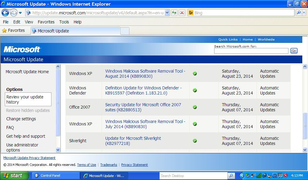 Microsoft Still Issuing Some Updates For XP