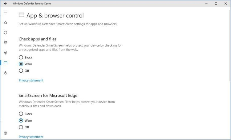 Windows Defender App And Browser