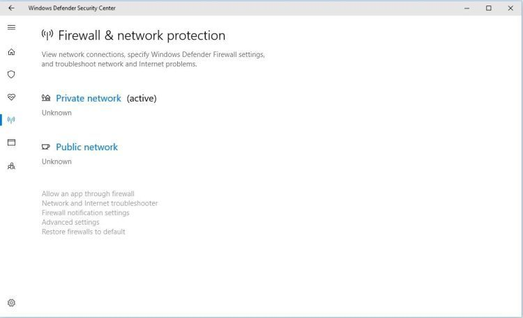 Windows Defender Firewall Network Protection